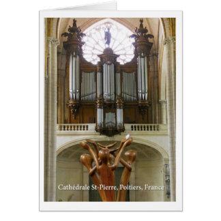 Catedral de Poitiers Tarjeta De Felicitación