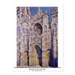Catedral de Ruán de Claude Monet Postales