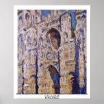 Catedral de Ruán de Claude Monet Posters