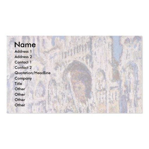 Catedral de Ruán de Claude Monet Tarjetas De Negocios