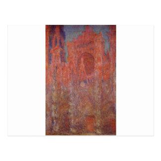 Catedral de Ruán de Claude Monet Tarjeta Postal