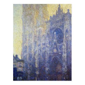Catedral de Ruán, el portal, efecto de la mañana Tarjeta Postal
