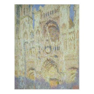 Catedral de Ruán en la puesta del sol, 1894 Tarjeta Postal