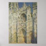 Catedral de Ruán en luz del sol completa Poster