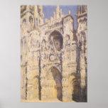 Catedral de Ruán, luz del sol completa de Claude Póster