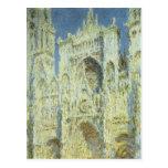 Catedral de Ruán, luz del sol del oeste Claude Mon Tarjetas Postales