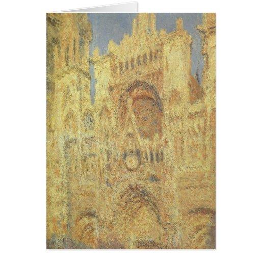 Catedral de Ruán, puesta del sol de Claude Monet, Felicitacion