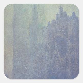 Catedral de Ruán, tiempo de niebla, 1894 (aceite Pegatinas Cuadradas