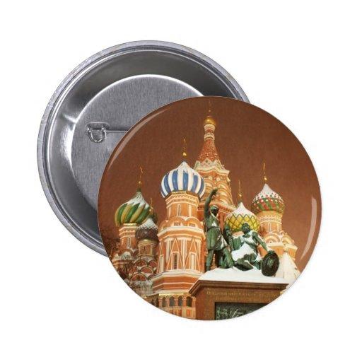 Catedral de Rusia Pin Redondo De 2 Pulgadas