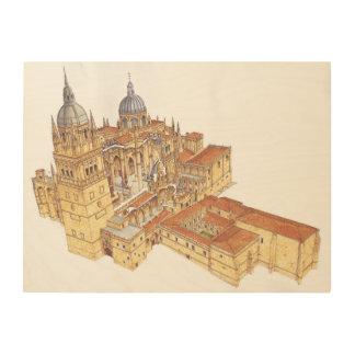 Catedral de Salamanca. España Impresiones En Madera