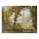 Catedral de Salisbury del jardín del obispo Anuncio