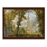 Catedral de Salisbury del jardín del obispo Postales