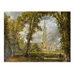 Catedral de Salisbury del jardín del obispo Tarjetas Postales