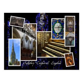 Catedral de Salisbury, Reino Unido - postal del