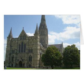 Catedral de Salisbury Tarjeta De Felicitación