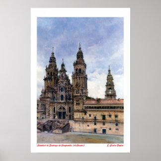 Catedral de Santiago de Compostela (A Coruña) Póster