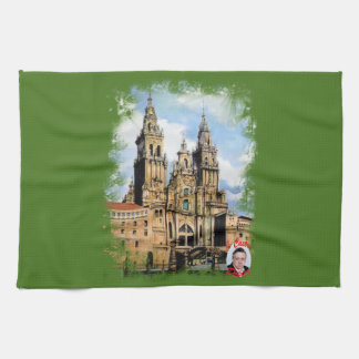 Catedral de Santiago de Compostela (A Coruña) Toalla De Cocina