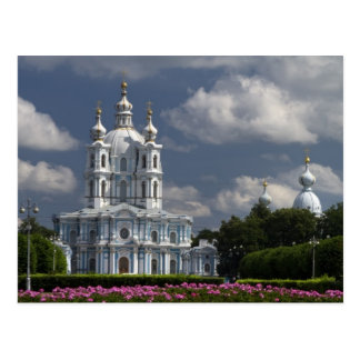 Catedral de Smolny en St Petersburg, Rusia Postal