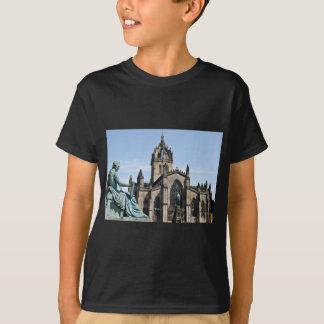 Catedral de St Giles y estatua de David Hume Playera