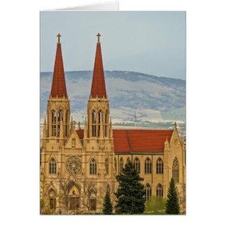 Catedral de St. Helena, Helena, Montana Tarjeta Pequeña