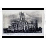 Catedral de St. John el divino, vintage de NYC Tarjetas