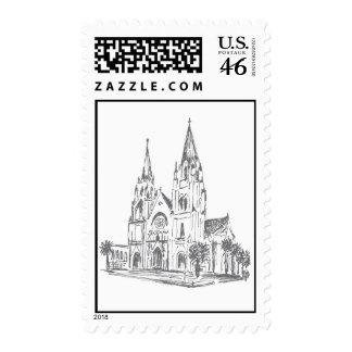 Catedral de St. John el sello postal baptista