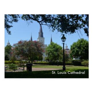 Catedral de St. Louis en la postal del barrio