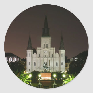 Catedral de St Louis New Orleans Pegatina Redonda