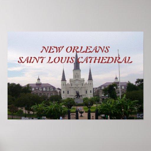 Catedral de St. Louis y cuadrado de Jackson Impresiones