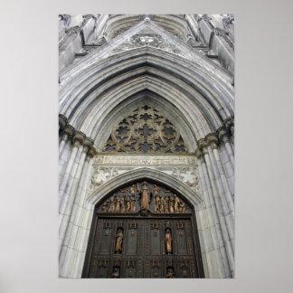 Catedral de St.Patricks en New York City Póster