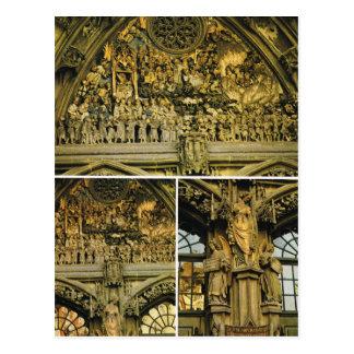 Catedral de Suiza, Berna, tallando en la entrada Postal