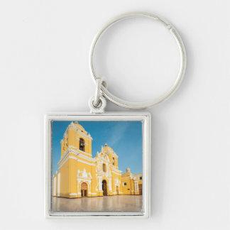 Catedral de Trujillo, Trujillo, Perú Llavero Cuadrado Plateado