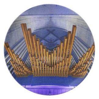 Catedral de Ulm, Alemania, placa del órgano Platos De Comidas