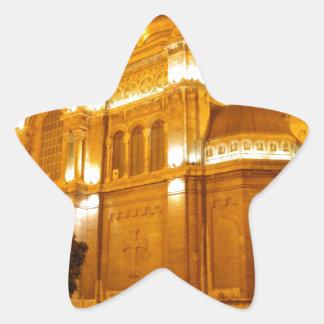 Catedral de Varna en la noche Pegatina En Forma De Estrella