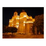 Catedral de Varna en la noche Postal