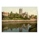 Catedral de Worcester, Worcestershire, Inglaterra Felicitación