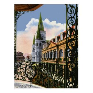Catedral del balcón postales