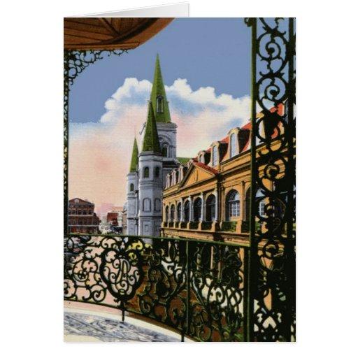 Catedral del balcón tarjetón