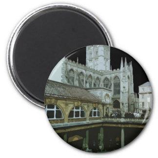 Catedral del baño de Inglaterra Imán Redondo 5 Cm