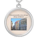 Catedral del Duomo de Florencia con cita del amor Collar Personalizado