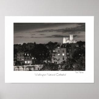 Catedral del nacional de Washington Póster