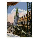 Catedral del navidad del balcón tarjeta