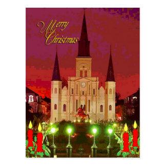 Catedral del navidad tarjetas postales