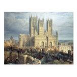 Catedral del noroeste, c.1850 de Lincoln Tarjetas Postales