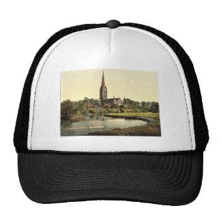 Catedral, del río, Salisbury, Inglaterra rara Gorras De Camionero