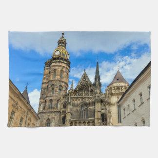 Catedral del St. Elisabeth en Kosice, Eslovaquia Toallas