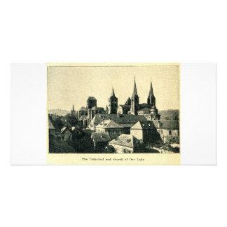 Catedral e iglesia de nuestra señora Liebfrauenkir Tarjeta Fotográfica Personalizada