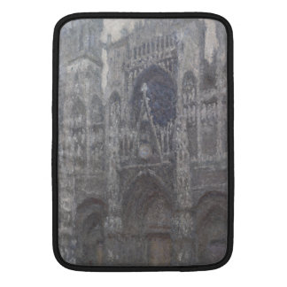 Catedral en el tiempo gris porta de Ruán de Monet Funda Para Macbook Air
