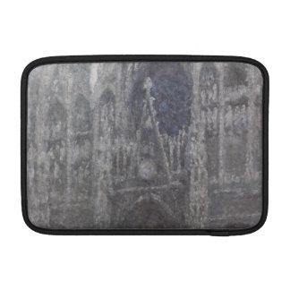 Catedral en el tiempo gris porta de Ruán de Monet Fundas Macbook Air