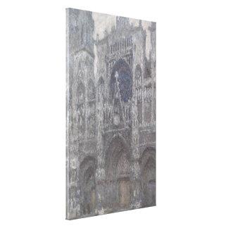 Catedral en el tiempo gris porta de Ruán de Monet Impresiones En Lona